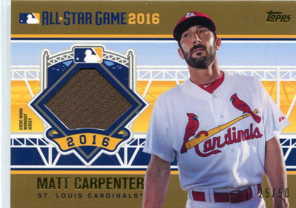2016 Topps Update All-Star Stitches Gold #ASTITMC Matt Carpenter