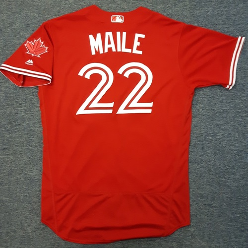 Authenticated Team Issued Jersey - #22 Luke Maile (2017 Season). Size 46.