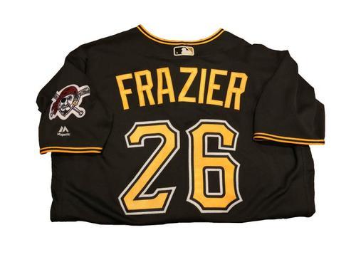 Photo of #26 Adam Frazier Game-Used Black Alternate Jersey - Worn on 4/11/17