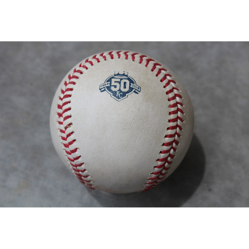 Photo of Game Used Baseball: Mitch Garver 30th Career Hit (MIN at KC - 5/29/18)