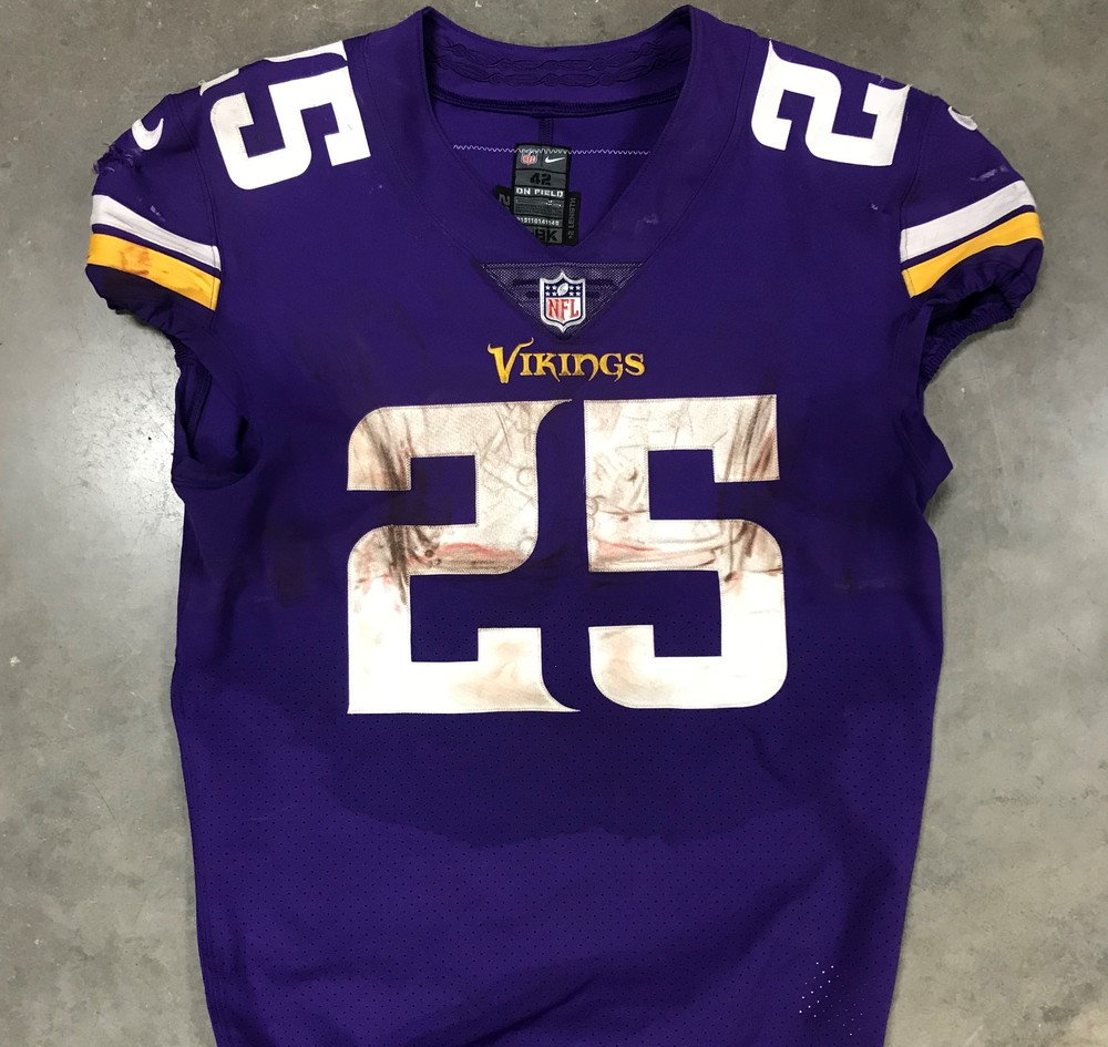 check out 9ae2d f3b5a NFL Auction | Crucial Catch - Game Worn Latavius Murray ...