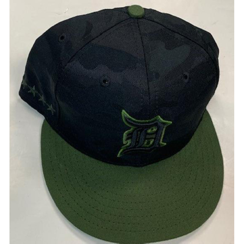 Photo of Game-Used Camo Cap: #48