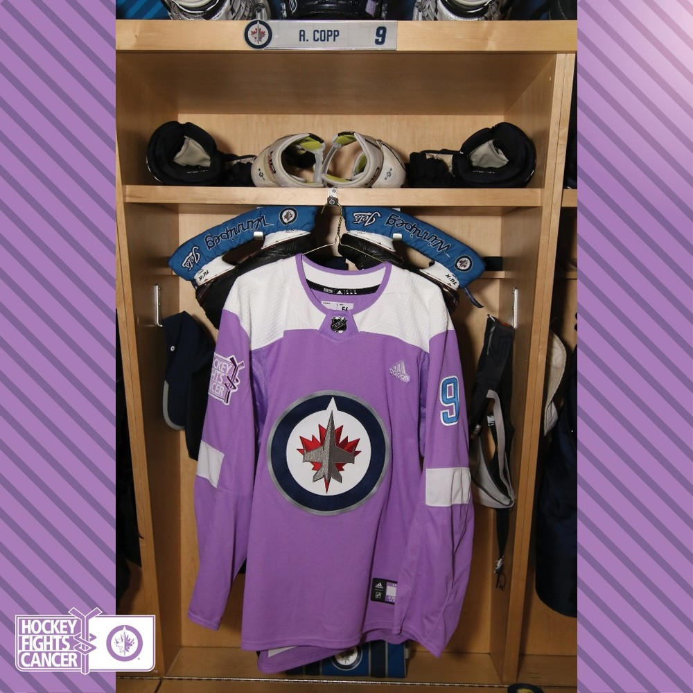 brand new a6fa1 0ffc0 ANDREW COPP Warm Up Issued Hockey Fights Cancer Jersey - NHL ...