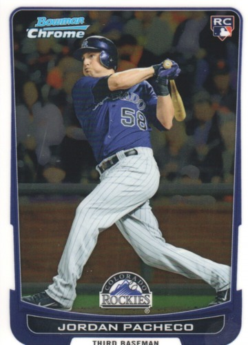 Photo of 2012 Bowman Chrome #168 Jordan Pacheco RC