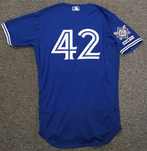 Photo of Charity Auction - Authenticated Game Used #42 Jersey - Thomas Pannone (April 15, 19). Size 44