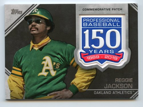 Photo of 2019 Topps 150th Anniversary Manufactured Patches #AMPRJ Reggie Jackson S2