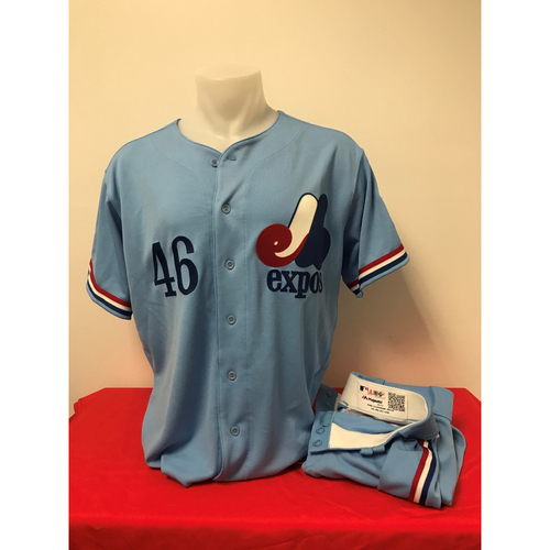 Photo of Patrick Corbin Expos Gear: Game-Used Jersey and Game-Used Pants