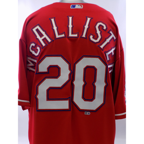 Photo of Team-Issued Red Zach McAlister Jersey - Size 48