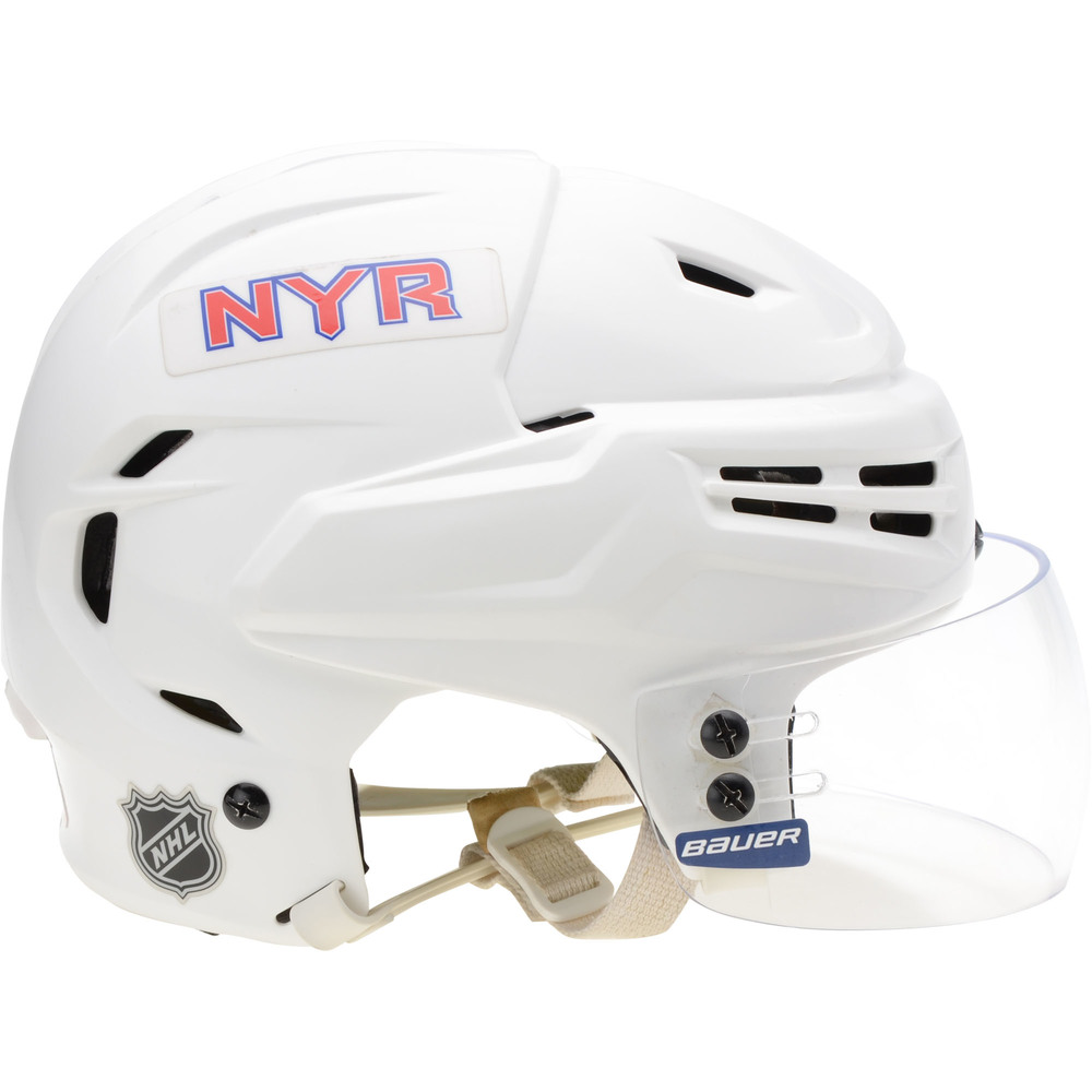 Ryan Strome New York Rangers Game-Used #16 White Warrior Helmet from the 2018-19 NHL Season