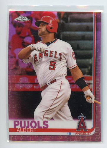 Photo of 2019 Topps Chrome Pink Refractors #27 Albert Pujols