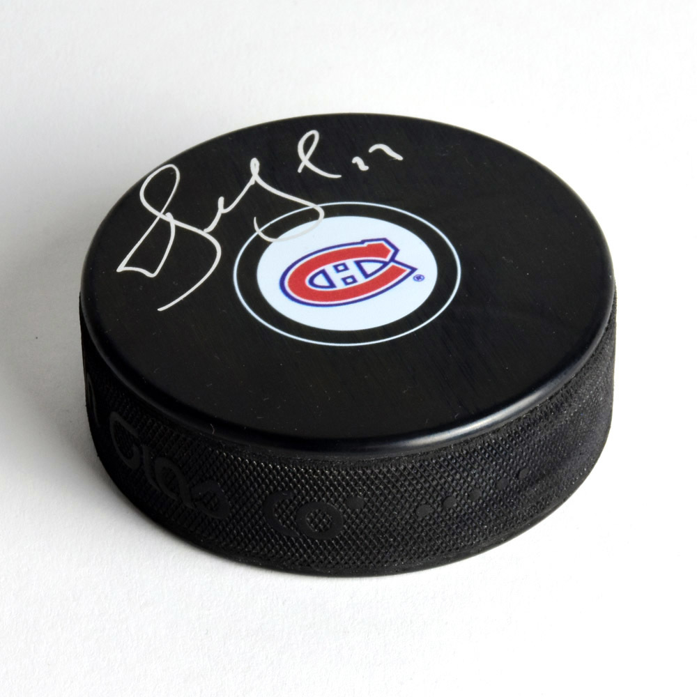Alexei Kovalev Montreal Canadiens Signed Autograph Model Hockey Puck