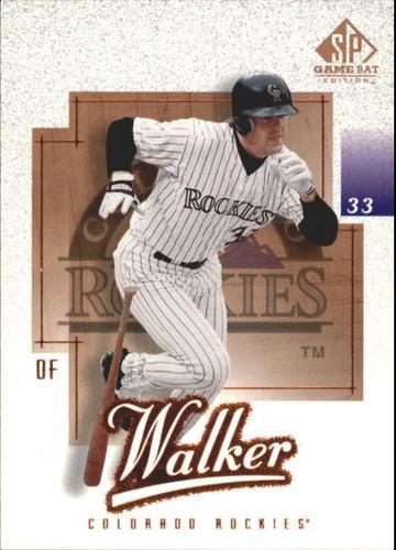 Photo of 2001 SP Game Bat Edition #89 Larry Walker