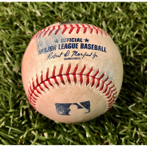 Photo of Game Used Baseball: Travis Shaw single, Randal Grichuk fly out and Teoscar Hernandez foul ball off Nick Anderson - July 25, 2020 v TOR