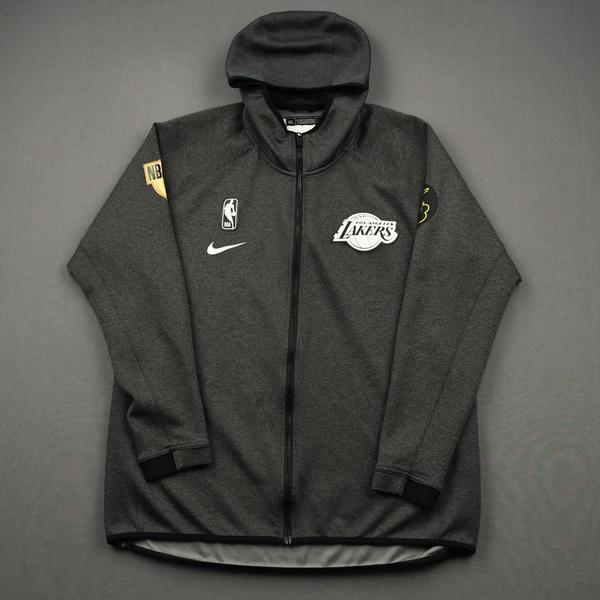 Image of Anthony Davis - Los Angeles Lakers - 2020 NBA Finals Games 1 Through 6 - Game-Worn Hooded Warmup Jacket