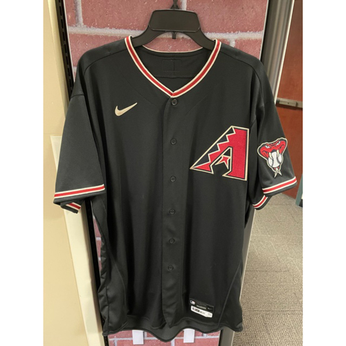 Photo of Kevin Cron 2020 Team-Issued Black Alternate Jersey (Size 50+2B)