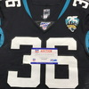 London Games - Jaguars Ronnie Harrison Game Used Jersey (11/3/19) Size 40 with 25 Seasons Patch