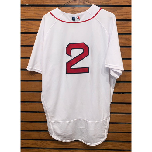 Photo of Xander Bogaerts May 4, 2021 Game Used Home Jersey - 2 for 5, Home Run (6tn of the season) 2 RBIs