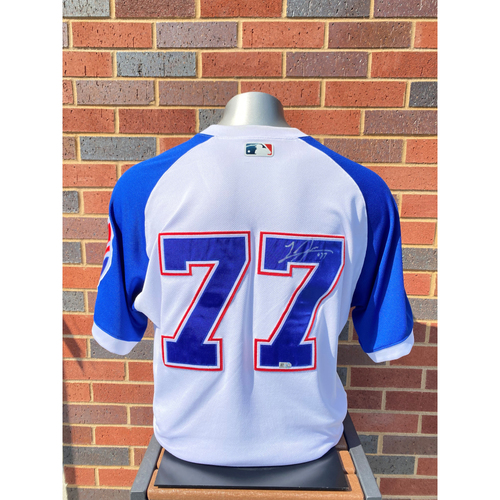 Photo of Luke Jackson MLB Authenticated, Autographed (Team-Issued or Game-Used) 1974 Style Jersey