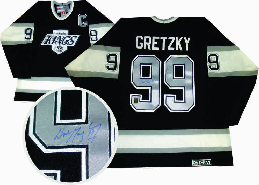 classic fit cc602 ab2c3 Wayne Gretzky - Autographed LA Kings Jersey - WGA COA ...