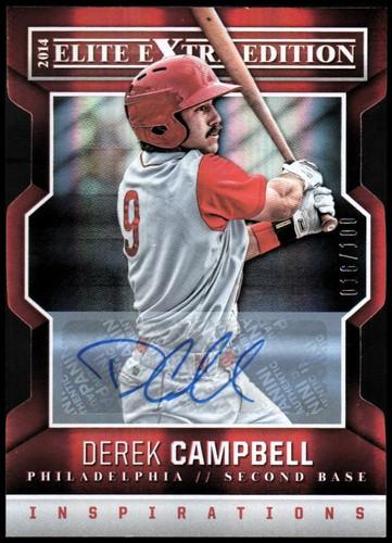 Photo of 2014 Elite Extra Edition Signature Inspirations #18 Derek Campbell