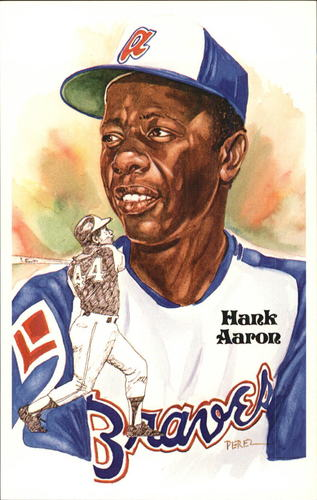 Photo of 1980-02 Perez-Steele Hall of Fame Postcards #177 Hank Aaron -- HOF Class of 1982
