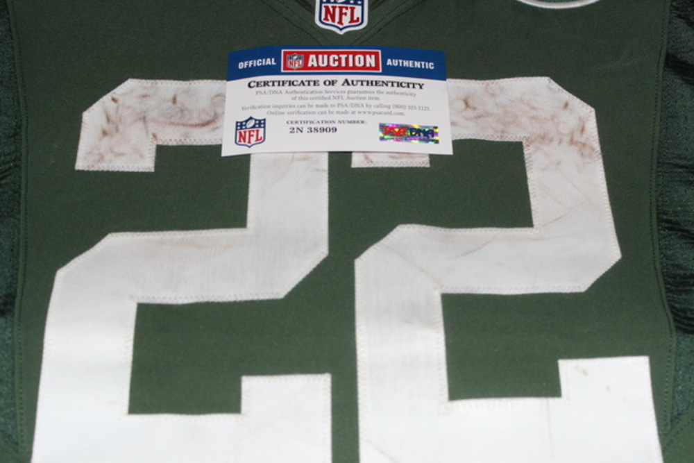 best sneakers 264b9 0c443 NFL Auction | STS - JETS MATT FORTE GAME WORN JETS JERSEY ...