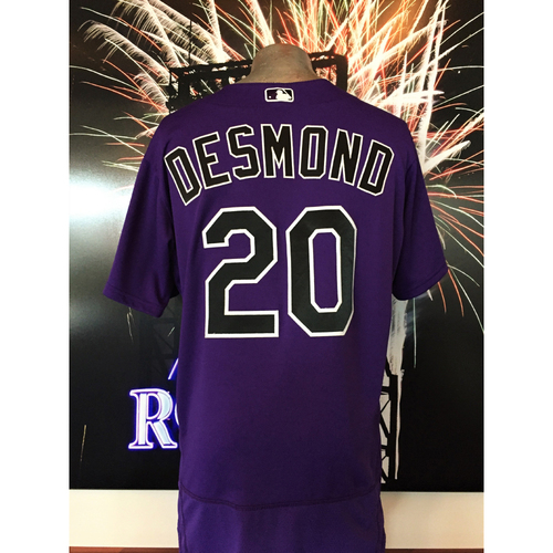Photo of Rockies Outfield - Ian Desmond Game-Used Jersey - 7/17/2017