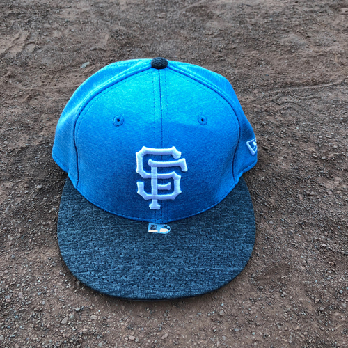 Photo of San Francisco Giants - 2017 Game-Used Father's Day Cap Worn on 6/17 & 6/18 by #60 Hunter Strickland - Size 7 1/4
