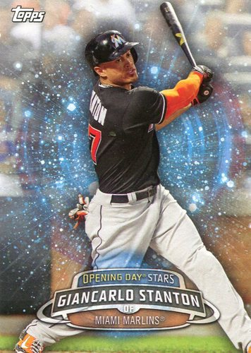 Photo of 2017 Topps Opening Day Opening Day Stars  Giancarlo Stanton