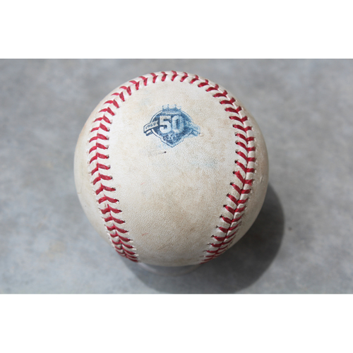 Photo of Game Used Baseball: Max Kepler 68th Career Double (MIN at KC - 5/28/18)