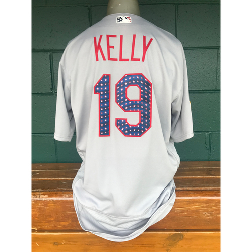 Photo of Cardinals Authentics: Team Issued Carson Kelly 4th of July Jersey