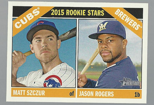Photo of 2015 Topps Heritage #164 Jason Rogers RC/Matt Szczur RC