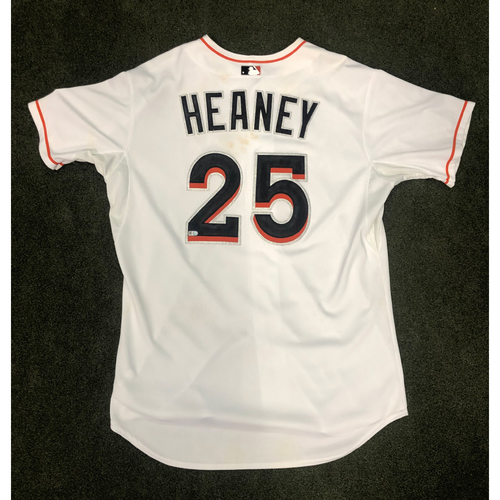 Game-Used Jersey: Andrew Heaney MLB Debut vs NYM (June 19, 2014) - Size 48