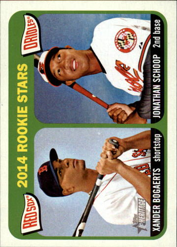 Photo of 2014 Topps Heritage #49 Jonathan Schoop RC/Xander Bogaerts RC