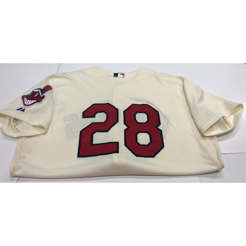 Photo of Corey Kluber Team Issued 2013 Alternate Home Jersey