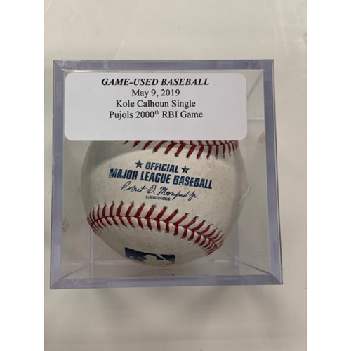 Game-Used Baseball: Kole Calhoun Single