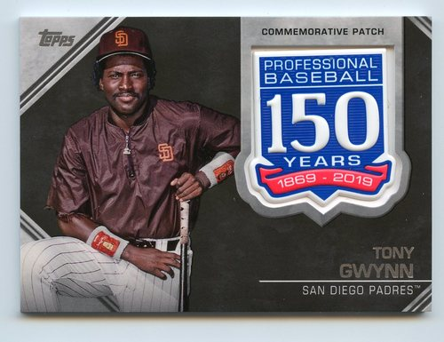 Photo of 2019 Topps 150th Anniversary Manufactured Patches #AMPTG Tony Gwynn S2