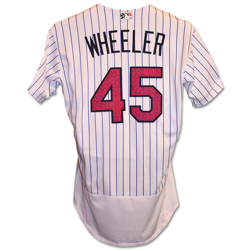 Photo of Zack Wheeler #45 - Team Issued 4th of July Jersey