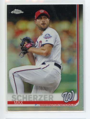 Photo of 2019 Topps Chrome Refractors #140 Max Scherzer