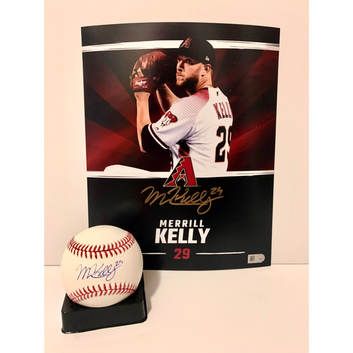 Photo of Merrill Kelly Autographed 8x10 and Ball