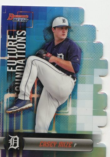 Photo of 2019 Bowman's Best Future Foundations Refractors #FFCM Casey Mize