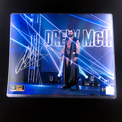 Photo of Drew McIntyre SIGNED Metal Signature Series 11x14 Photo (Random Number)