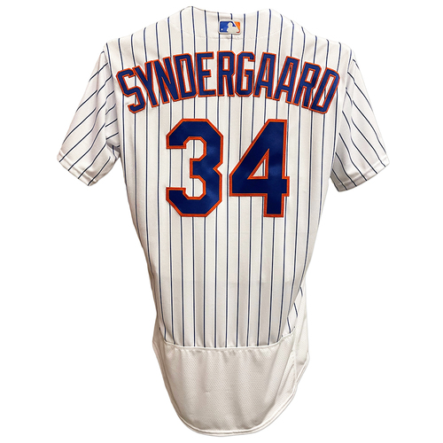 Photo of Noah Syndergaard #34 - Team Issued White Pinstripe Jersey - 2019 Season