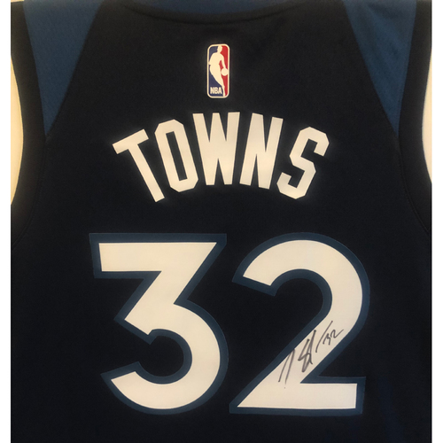 Photo of LOT #50: Autographed Karl-Anthony Towns Minnesota Timberwolves Jersey - Size XL
