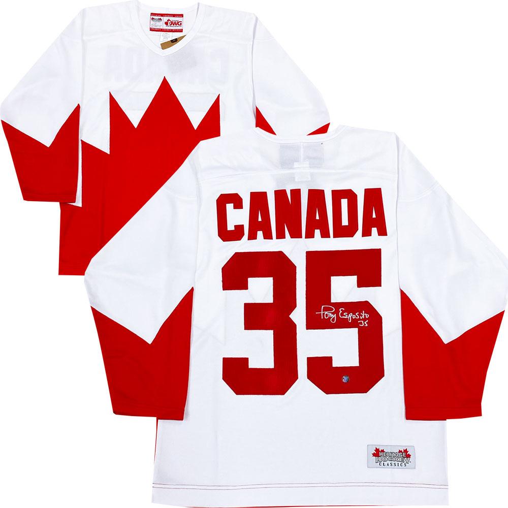 Tony Esposito Autographed 1972 Team Canada Jersey