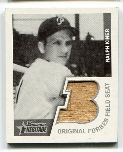 Photo of 2001 Bowman Heritage 1948 Reprints Relics #BHMRK Ralph Kiner Seat B
