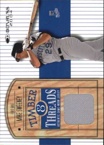 Photo of 2004 Donruss Timber and Threads #14 Mike Sweeney Jsy