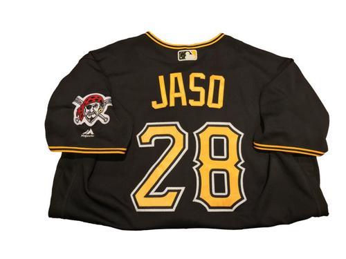 #28 John Jaso Game-Used Black Alternate Jersey - Worn on 4/24/17 - 1 for 3