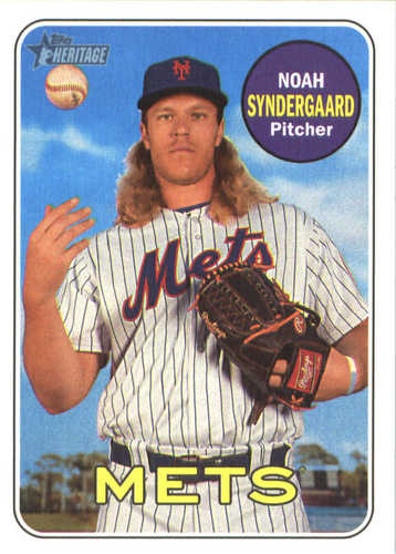 Photo of 2018 Topps Heritage #90 Noah Syndergaard