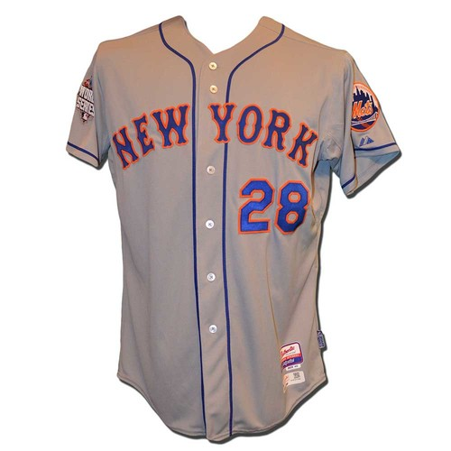 Photo of Daniel Murphy #28 - Team Issued Road Grey Jersey - 2015 World Series
